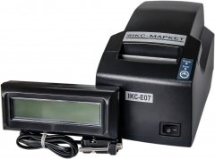 Фискальный регистратор ІКС IKC-Е07 с индикатором клиента IKC-РКІ-2х16-DB (ІКС-E07-РКІ2-2х16DB-Black)