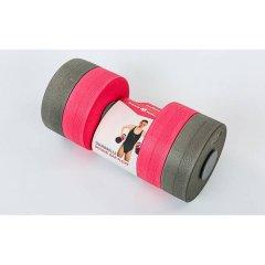 Гантели для аквааэробики круглые MadWave Round Bar Float, Цвет Серый-Розовый