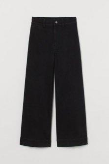 Широкі джинси H&M 40 (170/76А) Чорний (0920829003)