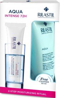 Набор Rilastil Гель-крем для увлажнения кожи 72 часов 40 мл + Гель для лица 50 мл (8050444858745)