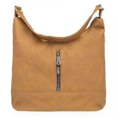 Женская сумка через плечо P27 желто-коричневая