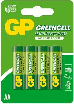 Батарейки GP GREENCELL 15G-U4 АА 4 шт (4891199000133)