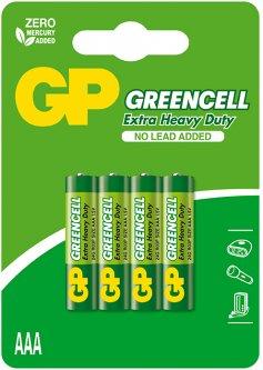 Батарейки GP GREENCELL 24G-U4 ААА 4 шт (4891199000478)