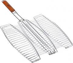 Решетка гриль BBQ для рыбы тройная 65 х 40 х 36 см (MH-0089)