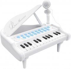 """Детское пианино-синтезатор Baoli """"Маленький музыкант"""" с микрофоном 24 клавиши Белый (BAO-1505B-W) (2722728282824)"""