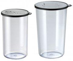 Набор мерных стаканов Bamix c черной крышкой 400 мл и 600 мл (450.050)