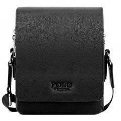 Повседневная мужская сумка через плечо Polo Vicuna Черная (1002-BL)
