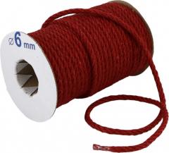 Канат джутовый Радосвіт 6 мм х 25 м Малиновый (4820172931942)