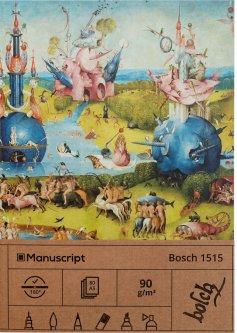 Скетчбук Manuscript Bosch 1515 A5 Чистые 80 страниц с открытым переплетом (M - Bosch 1515)