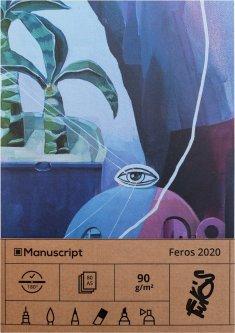 Скетчбук Manuscript Feros 2020 A5 Чистые 80 страниц с открытым переплетом (M - Feros 2020)