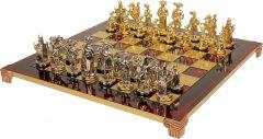 Шахматы Manopoulos Мушкетеры в деревянном футляре 44х44 см Красные (S12RED)