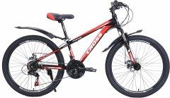 "Велосипед Cross Focus 26"" 15"" 2021 Black-red (26CWS21-003326)"