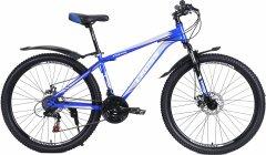 """Велосипед Cross Focus 26"""" 15"""" 2021 Gray-blue (26CWS21-003327)"""