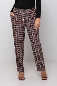 Трикотажные брюки на резинке БАРНИ красные 58