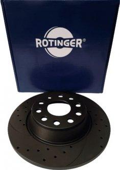 Диск тормозной Rotinger Audi A3, Skoda Octavia, Superb, VW Golf, CC, Passat 2 шт (RT 1640-GL T5)
