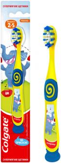 Зубная щетка детская Colgate для детей 2-5 лет для бережной чистки Синяя (8718951414181_синяя)