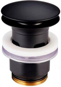 Донный клапан для раковины DEVIT Art 13140B черный матовый