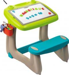 Парта-доска Smoby Toys Школярик с аксессуарами Зеленая (3032164201037)