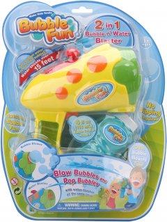 Мыльные пузыри Make Kids Smile Bubble Fun 2 в 1 Пистолет для пузырей и распылитель воды 120 мл (DHOBB10074)