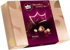 Упаковка конфет АВК Королевский Шарм с целым фундуком и шоколадным кремом в тубусе 276 г х 7 шт (4823105805723)