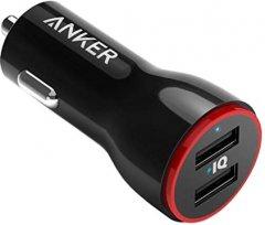 Автомобильное зарядное устройство Anker PowerDrive 2 24W 2xUSB V3 Black (A2310G11)