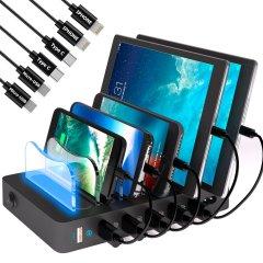 Универсальная зарядная станция Timstool 6 USB Black (SG0106Q-UA-BK)