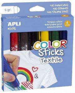 Маркеры тканевые ApliKids 6 цветов (000017539) (8410782175391)