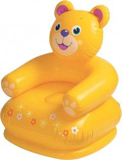Кресло надувное Intex 68556 Веселые животные с подлокотниками спинкой 65х64х74 см (68556 медведь)