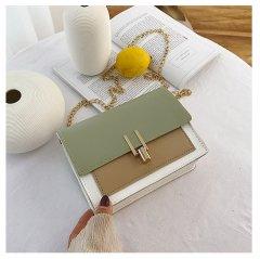 Женская сумка через плечо SWDF с клапаном 18x14x6 cm Зеленый (sv0110)