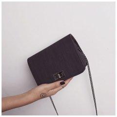 Женская сумка SV через плечо с клапаном 18*14*6cm Черный (sv0143)