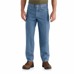 Джинси Carhartt Relaxed Fit Tapered Leg Jeans - Factory Seconds Stonewash, 50W 32L (11329115)