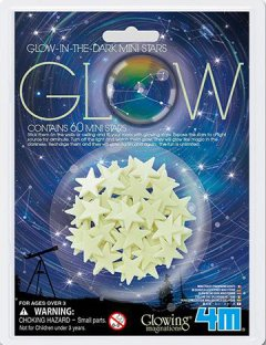 Набор светящихся наклеек 4M Мини-звезды, 60 шт. (00-05221)