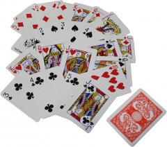 Карты игральныe Duke с пластиковым покрытием N977, 56 листов, увеличенный индекс (8.8x6.3х1.8 см) Красные (DN30767RED)