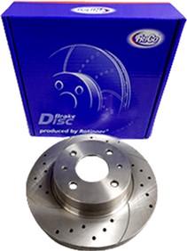 Диск тормозной передний Frico ВАЗ 2108 - 21099, 2113-2115 с перфорацией и насечками 2 шт (FC527BDF5)