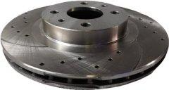 Диск тормозной передний Frico ВАЗ 2110 - 2112, 14 радиус с перфорацией и насечками 2 шт (FC1325BD14F5)