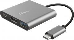 USB-хаб Trust Dalyx 3-in-1 Multiport USB-C Adapter (23772)