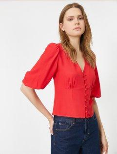 Блузка Koton 0KAK68643PW-420 36 Red (8682260149853)