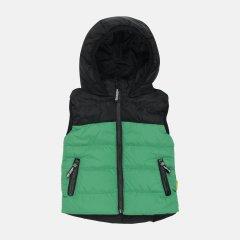 Демисезонный жилет Одягайко 72103 122 см Зеленый/Черный (ROZ6400041744)