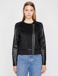 Куртка из искусственной кожи Koton 0KAK23753GW-999 34 Black (8681972161825)