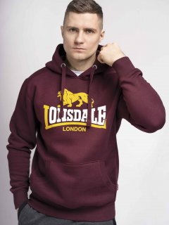 Худи Lonsdale THURNING 116030-2003 XXL OxBlood (4251522353402)