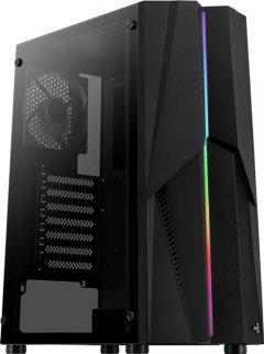 Корпус Aerocool Mecha Black Mid Tower RGB Glass side panel (Mecha-G-BK-v1)