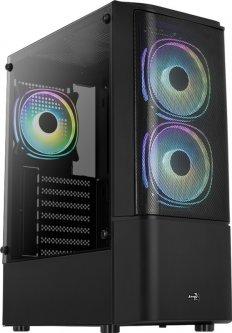 Корпус Aerocool Quantum Mesh Black Mid Tower FRGB side panel (QuantumMesh-G-BK-v2)