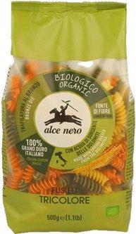 Макаронные изделия из твердых сортов пшеницы Alce Nero Фузилли с томатом и шпинатом 500 г (8009004210042)