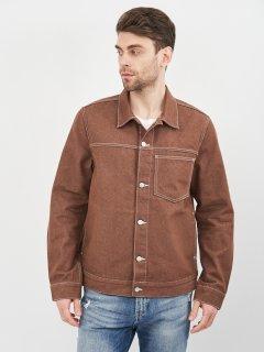 Джинсовая куртка Weekday 1112-9511598 L Коричневая (We03650523196)