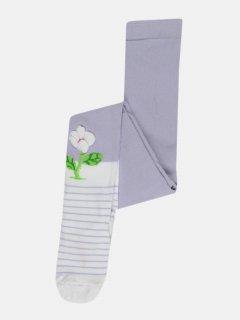 Колготки De Melatti 2006 98-104 см Фіолетові з білим (2400000149460)