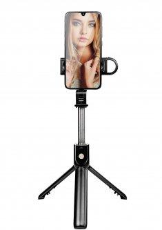 Трипод XoKo K10-s LED Selfie Stick Tripod Bluetooth Black (XK-K10s)
