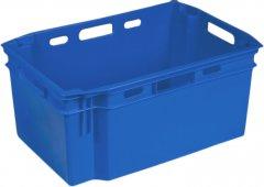 Ящик пластиковый сплошной Полимерцентр 600х400х270 мм Голубой (N6427R-1-BL)