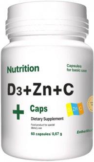 Витаминно-минеральный комплекс EntherMeal D3 + Zinc + С 60 капсул (D3ZNC060EM085)