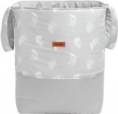 Текстильная корзина для игрушек Sensillo Medium Piorka Szare 35х47 см (SILLO-8703)
