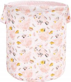 Текстильная корзина для игрушек Sensillo Ptaki Koralowe 40х50 см (SILLO-8701)